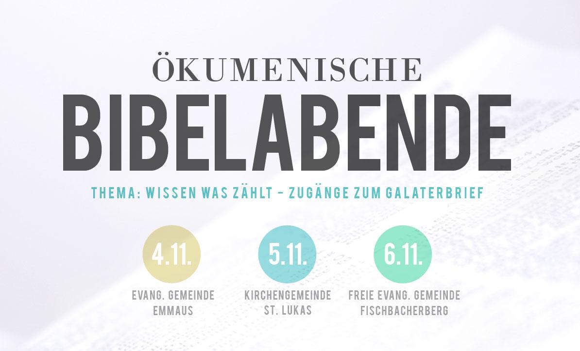 Herzliche Einladung zu den Bibelabenden am Fischbacherberg
