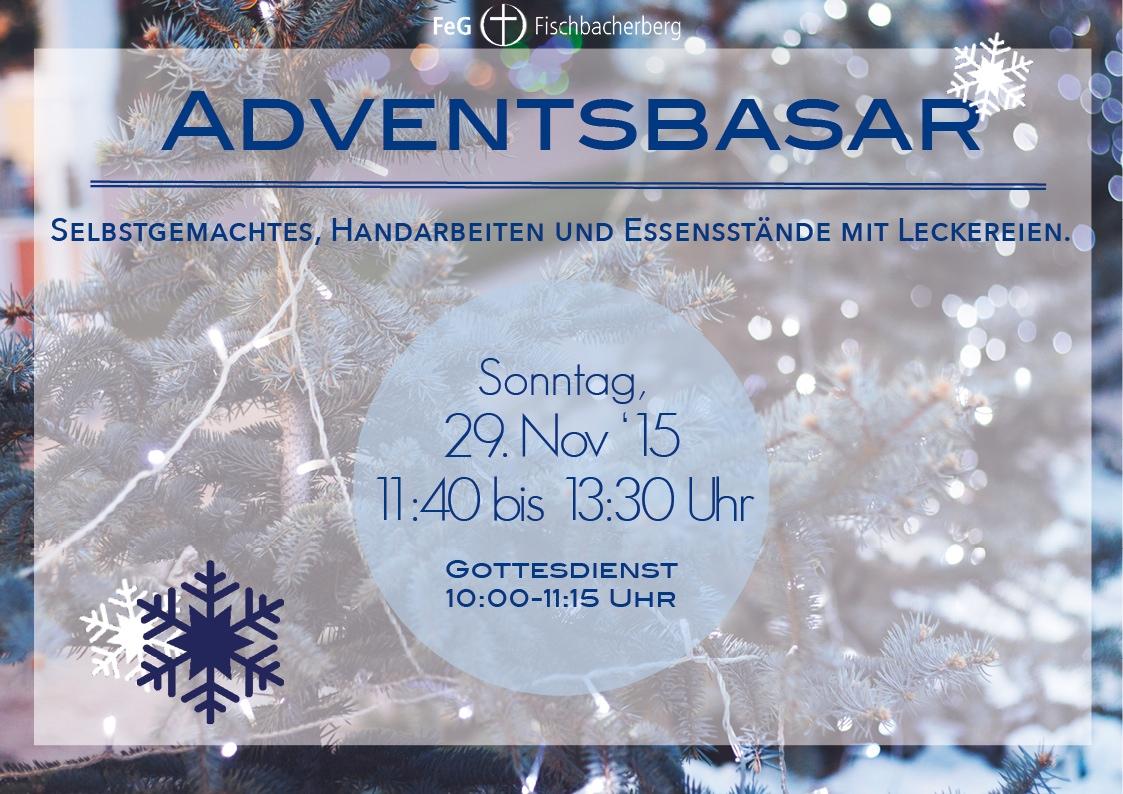 Einladung zum Adventsbasar