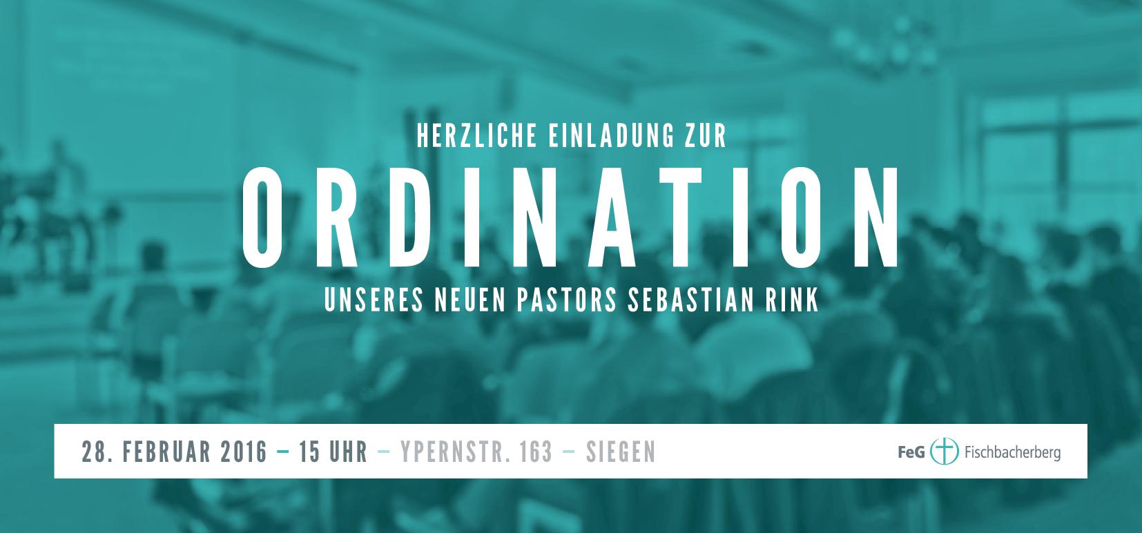 Herzliche Einladung zur Ordination