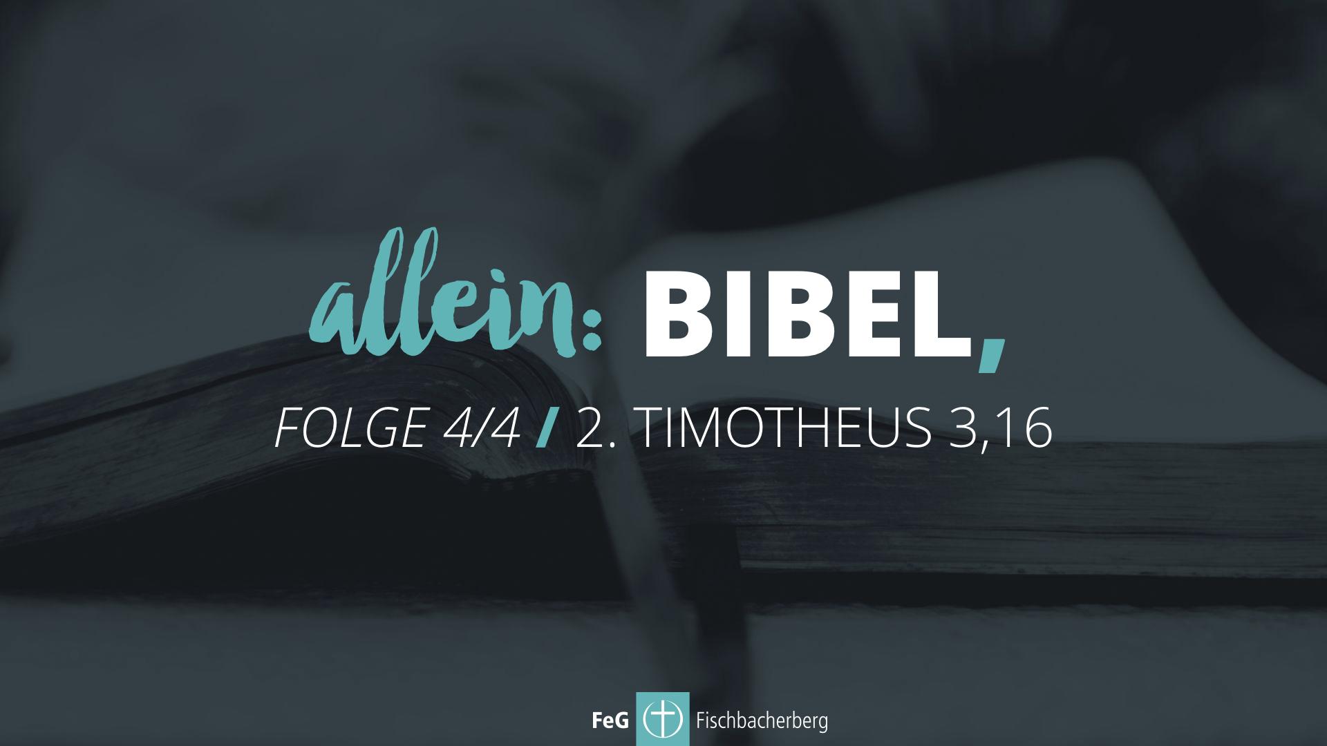 allein: Bibel, (4/4)