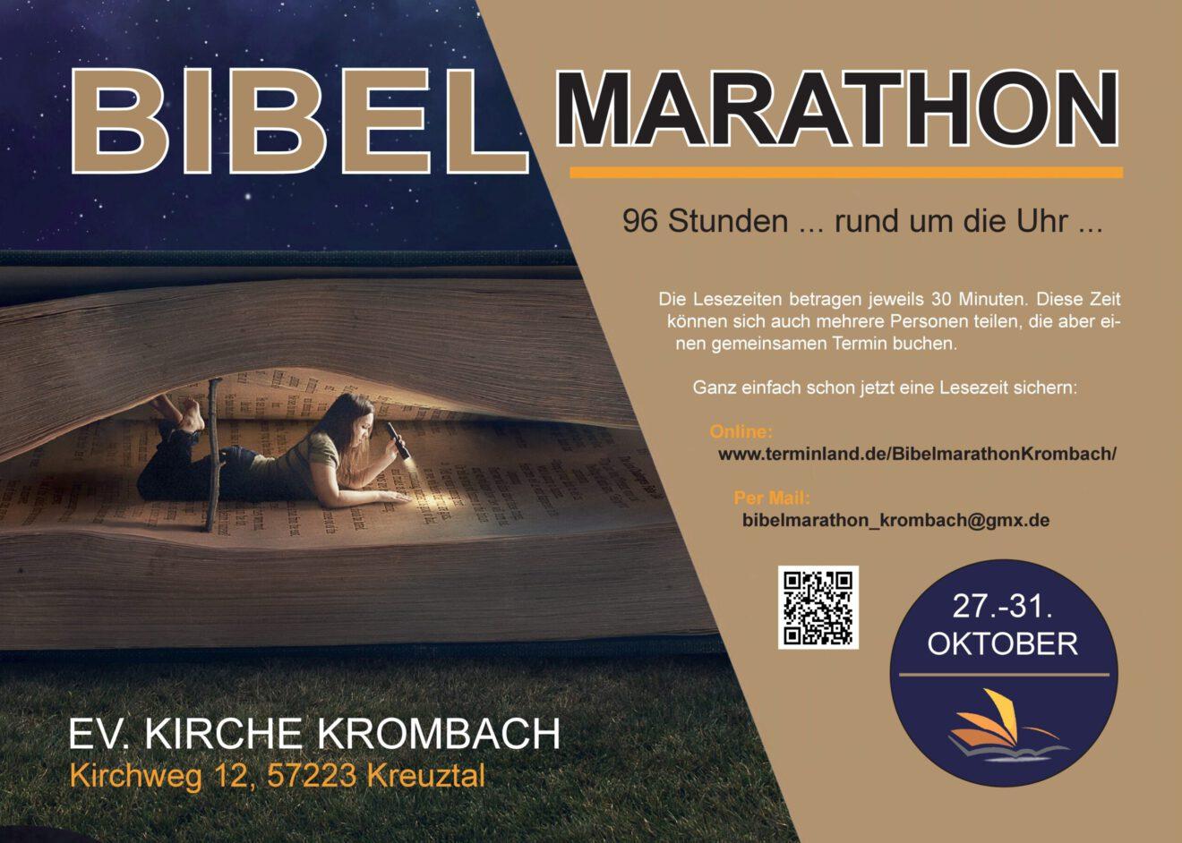 Plakat Bibelmarathon Blau